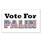 Vote for Palin - Sarah Palin Rectangle Sticker