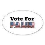 Vote for Palin - Sarah Palin Oval Sticker (50 pk)