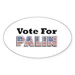 Vote for Palin - Sarah Palin Oval Sticker (10 pk)
