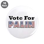 "Vote for Palin - Sarah Palin 3.5"" Button (10"