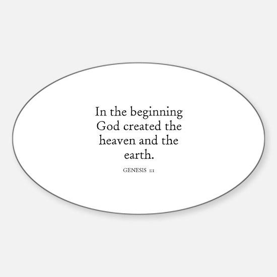 GENESIS 1:1 Oval Decal
