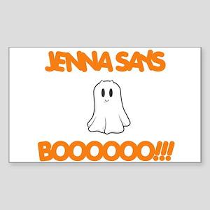 Jenna Says Boo Rectangle Sticker