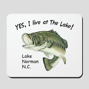 Lake Norman NC bass Mousepad