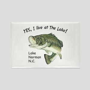 Lake Norman NC bass Rectangle Magnet