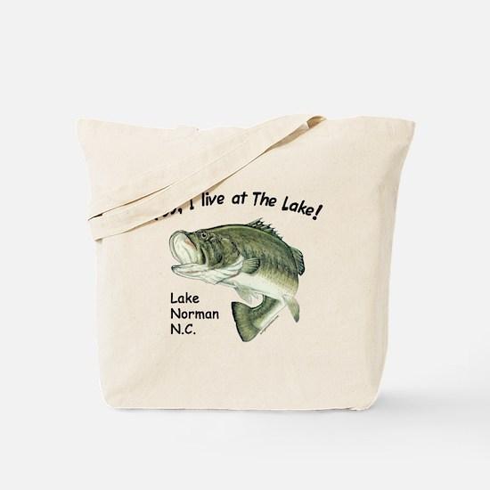 Lake Norman NC bass Tote Bag