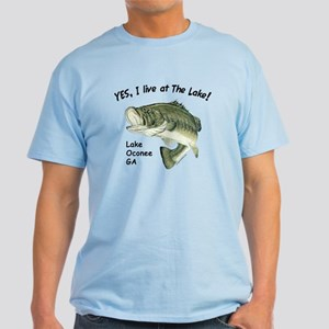 Lake Oconee GA bass Light T-Shirt