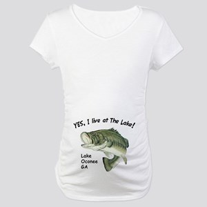 Lake Oconee GA bass Maternity T-Shirt