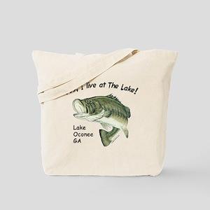 Lake Oconee GA bass Tote Bag