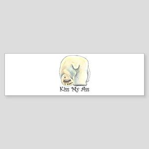 Kiss My Ass - Polar Bear Bumper Sticker