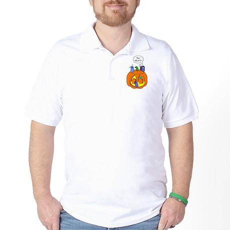 Halloween Pumpkin Golf Shirt