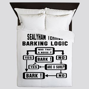 Sealyham Terrier Barking Logic ! Queen Duvet