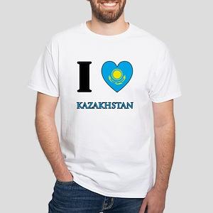 I Love Kazakhstan White T-Shirt