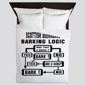 Scottish Deerhound Barking Logic ! Queen Duvet