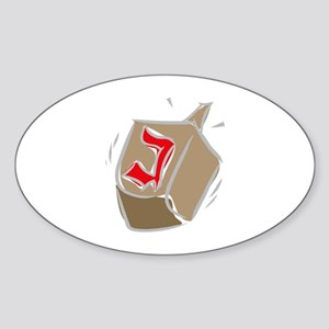 Dreidel Oval Sticker