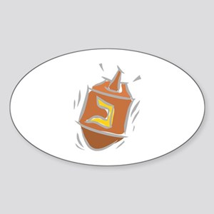 Dreidel Oval Sticker