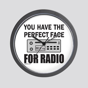 PERFECT FACE FOR RADIO Wall Clock