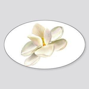 Magnolia Oval Sticker