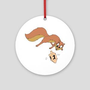 Chipmunk & Dreidel Ornament (Round)
