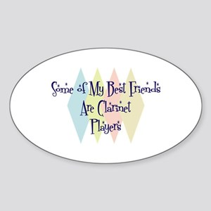 Clarinet Players Friends Oval Sticker