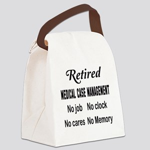 Retired Medical management Canvas Lunch Bag