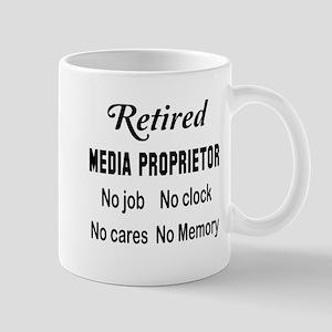 Retired Media proprietor 11 oz Ceramic Mug