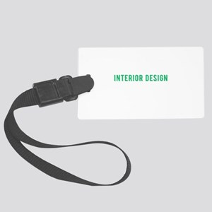 Funny Interior Design College St Large Luggage Tag