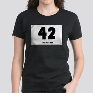 42 the answer to the question Women's Dark T-Shirt