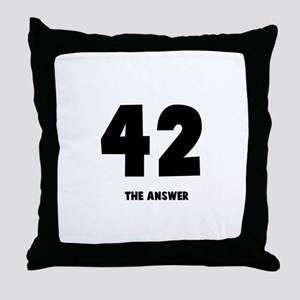 42 the answer to the question Throw Pillow