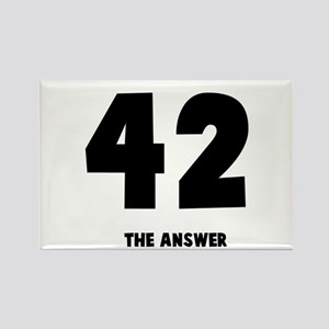 42 the answer to the question Rectangle Magnet