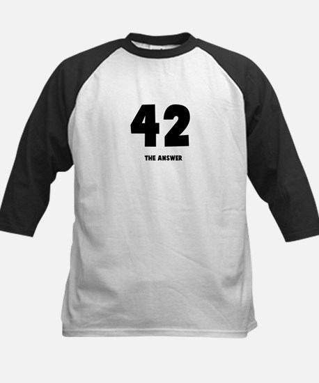 42 the answer to the question Kids Baseball Jersey