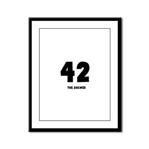 42 the answer to the question Framed Panel Print