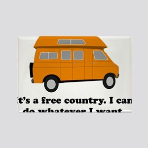 It's A Free Country I Can Do Rectangle Magnet