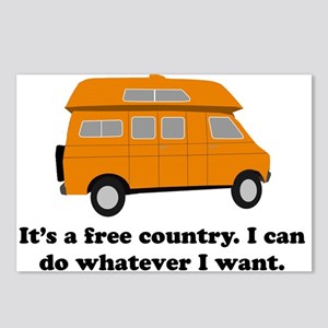 It's A Free Country I Can Do Postcards (Package of