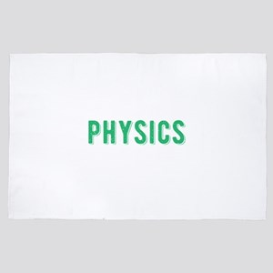 Physics Major Science Student Gift 4' x 6' Rug