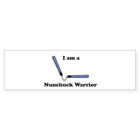 Nunchuck Warrior - Ninja Bumper Sticker