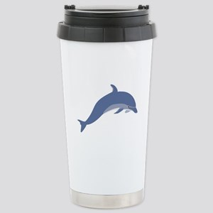 Blue Dolphin Stainless Steel Travel Mug
