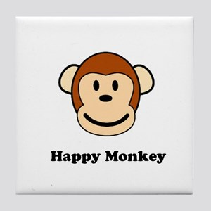 Happy Monkey Tile Coaster
