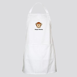 Happy Monkey BBQ Apron