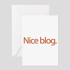 Nice Blog - web blog Greeting Card