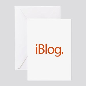 iBlog Ipod Style Blogger Greeting Card
