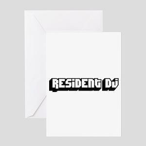resident DJ Greeting Card