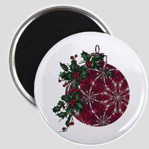Ruby & Holly Ornament Magnet