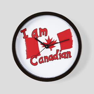 I Am Canadian Wall Clock