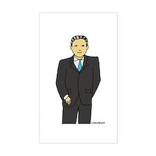 Smart Man Rectangle Sticker