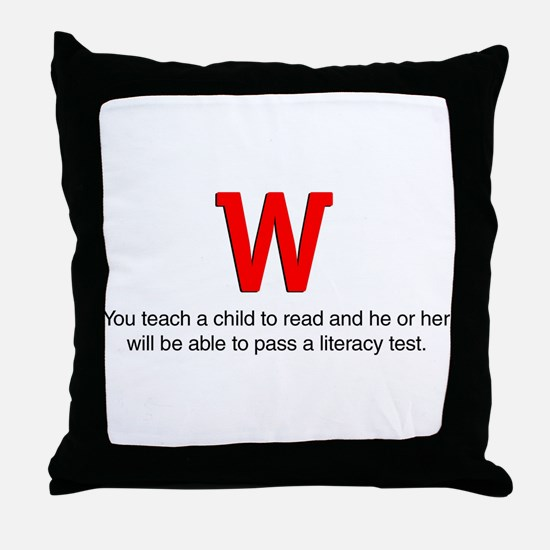 You Teach a Child to Read Throw Pillow