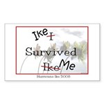 Ike Survived Me Rectangle Sticker 50 pk)
