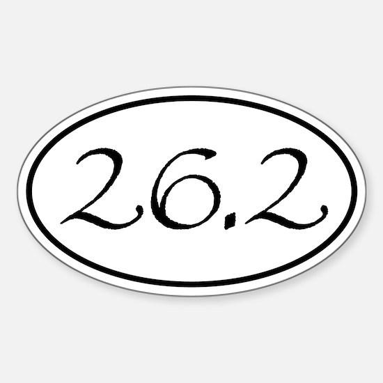 26.2 Marathon Oval Oval Decal