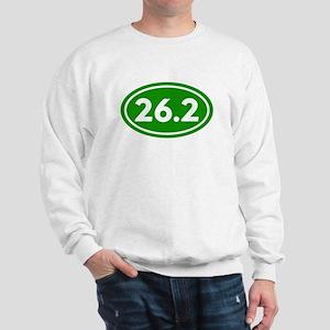 Green 26.2 Marathon Runner Sweatshirt