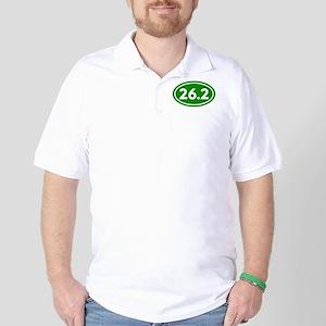 Green 26.2 Marathon Runner Golf Shirt