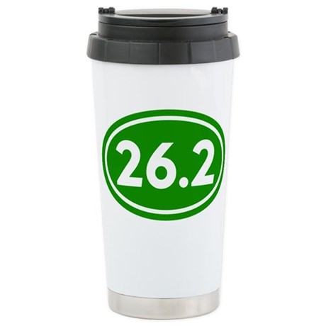 Green 26.2 Marathon Runner Stainless Steel Travel